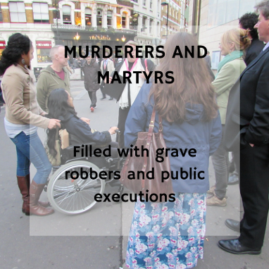 Murderers and Martyrs Walking Tour in the City of London